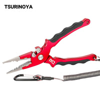 TSURINOYA Aluminum Fishing Pliers AP-170 83g Tungsten Steel Alloy Cutting Edge Hook Remover Saltwater Line Cutter Fishing Tackle