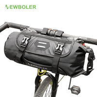NEWBOLER Bike Front Tube Bag Waterproof Bicycle Handlebar Basket Pack Cycling Front Frame Pannier Bicycle Accessories