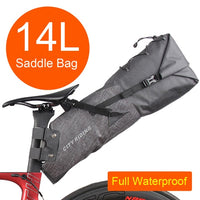 NEWBOLER 2020 Bike Bag Bicycle Saddle Tail Seat Waterproof Storage Bags Cycling Rear Pack Panniers Accessories 10L Max