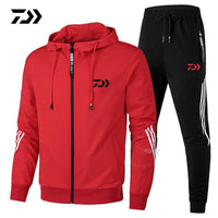 Daiwa Spring Autumn 2020  Fishing Suit Cotton Outdoor Camping Hiking Sport Set  Striped  Clothes Fishing Jacket Pants Suit