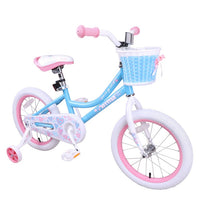 US warehouse 4 Color Girls Bike with Basket  Training Wheels 14 & 16 Inch Bike Kid  Child Children Bicycle, Blue & Pink & Purple