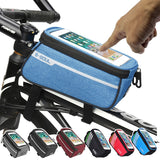 Waterproof Bicycle Bag Nylon Bike Cyling Cell Mobile Phone Bag Case 5.5'' 6'' Bicycle Panniers Frame Front Tube Bags Accessories