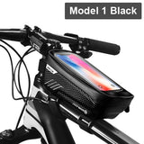 WILD MAN Rainproof Bicycle Bag Frame Front Top Tube Cycling Bag Reflective 6.5in Phone Case Touchscreen Bag MTB Bike Accessories