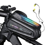 NEWBOLER Rainproof Bike Bag Frame Front Top Tube Cycling Bag Reflective7.0in Phone Case Touchscreen Bag MTB Bicycle Accessories