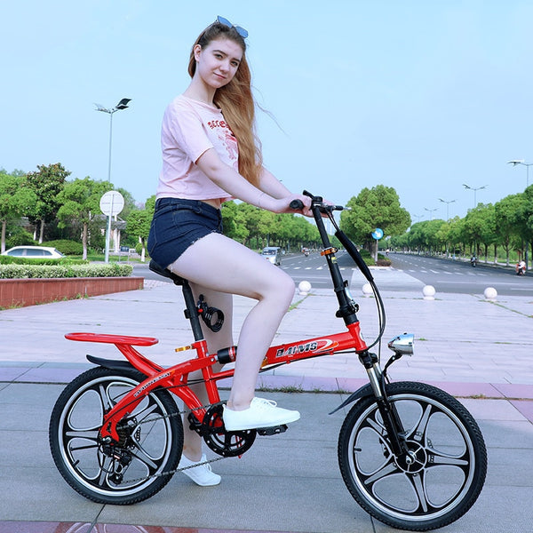 Portable quick folding bicycle 16 inch wheel rims quick fold road bike Princess bikes Adult cycling mini BMX Birthday Gift