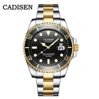 CADISEN Japan Mechanical Movement Watch Men 100M Waterproof Top Brand Automatic Watch Ceramics Business Sport Relogio Masculino