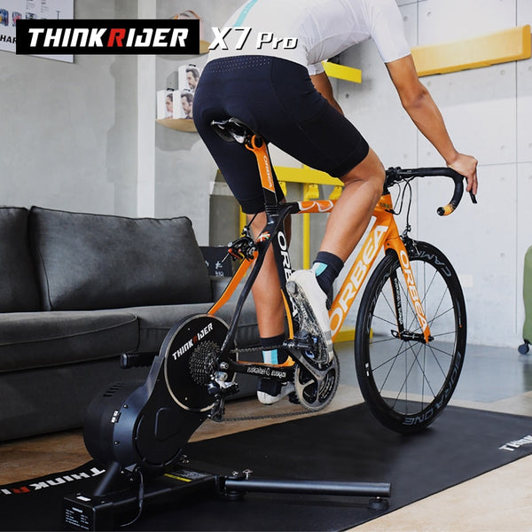 Thinkrider X7 Pro Smart Bike Trainer MTB Road Bicycle Carbon Fiber Frame friendly Built-in Power Meter Ergometer ZWIFT PerfPro