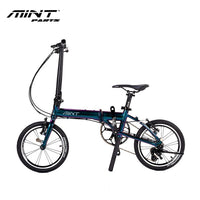 Minparts MT folding bike T-3 16inch cycling alloy frame top color changing paint bicycle