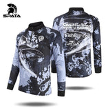 New SPATA Fishing Jersey Tee Shirt For Men Long Sleeve Sport Clothing Tackle Fishing Sun UV Protection Quick Dry Fishing Clothes