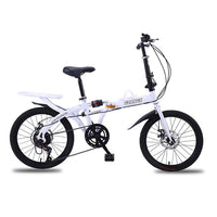 Carbon Steel Folding Bicycle Adult Student 16/20 Inch Bike Variable Speed Shock Absorber Bicycle Children Men And Women