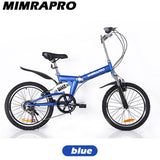 "HOT!MIMRAPRO Bike Full Suspension Foldable SOFT TAIL Frame Can change Speed Mechanic Brake 20""x2.0 Aluminum alloy wheel 5 Style"