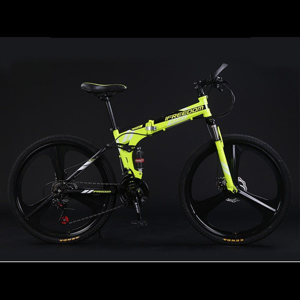 Mountain Bike Folding Adult 24 26 Inch 21 24 27 30 Speed With Top Three Cutter Wheel