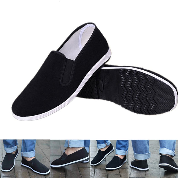 New Chinese Kungfu Shoes Black Chinese Traditional Kung Fu Shoes Tai Chi Wushu Shoes Old Peking Shoes Martial Art Sneakers 35~44