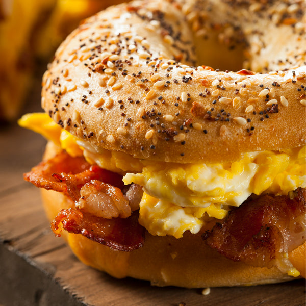 Bagel w/ Egg & Bacon