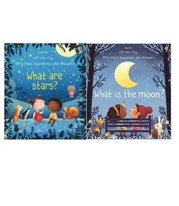 Usborne Lift-The-Flap Very Questions and Answers Moon & Stars Pack