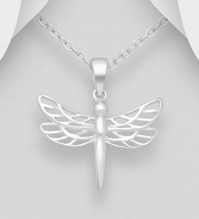 Copy of 925 Sterling Silver Dragonfly Pendant & Chain - The Silver Vault UK