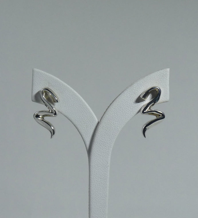 925 Sterling Silver Solid Hand Crafted Designer Drop Earrings - The Silver Vault UK
