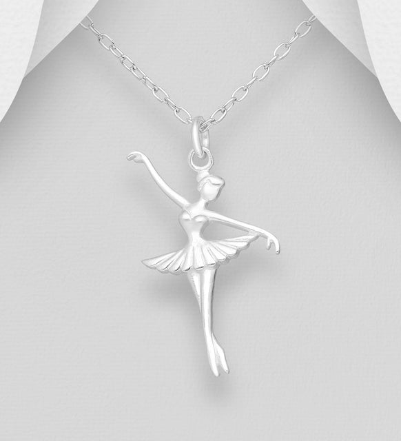 Copy of 925 Sterling Silver Ballet Dancer Pendant & Chain