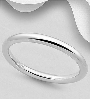 925 Sterling Silver Classic Bangle - The Silver Vault UK