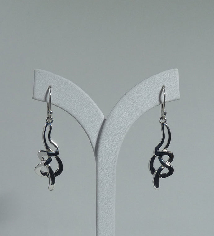 925 Sterling Silver  Hand Crafted Designer Drop Earrings - The Silver Vault UK