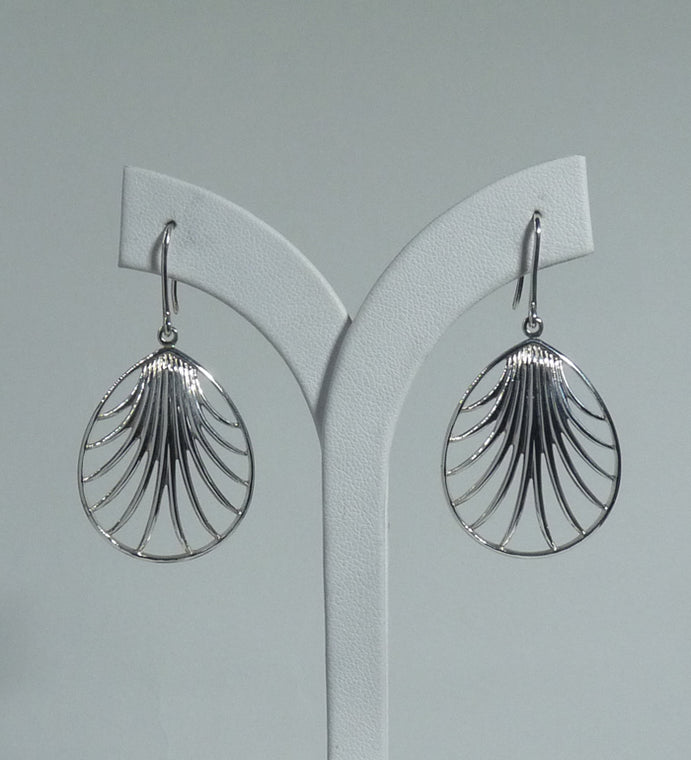 925 Sterling Silver  Hand Crafted Designer Drop Earrings - Exclusive - The Silver Vault UK