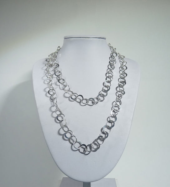 Copy of 925 Sterling Silver Solid Hand Crafted Longer Necklace. - Exclusive - The Silver Vault UK