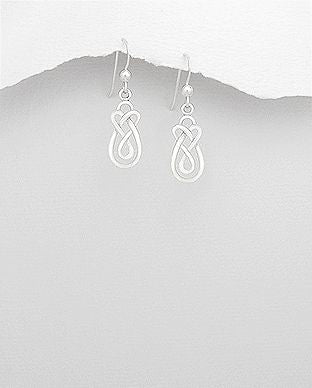 925 Sterling Silver Celtic Hook Earrings - The Silver Vault UK