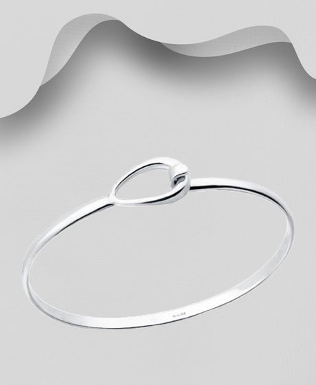 925 Sterling Silver Georg Jensen Style Bangle That Opens - The Silver Vault UK
