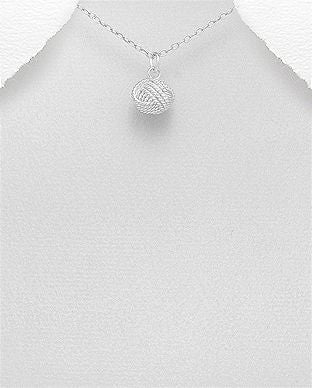 925 Sterling Silver Knot Pendant & Chain - The Silver Vault UK