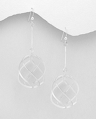 925 Sterling Silver Long Hand Crafted Drop Earrings - The Silver Vault UK