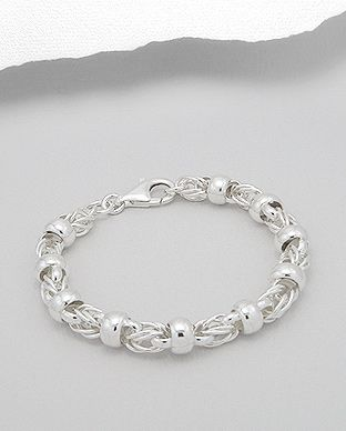 925 Sterling Silver Rope Style Bracelet - The Silver Vault UK