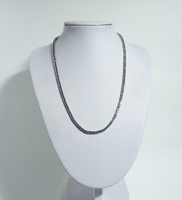 925 Sterling Silver Solid Fancy Linked Necklace/Chain - The Silver Vault UK