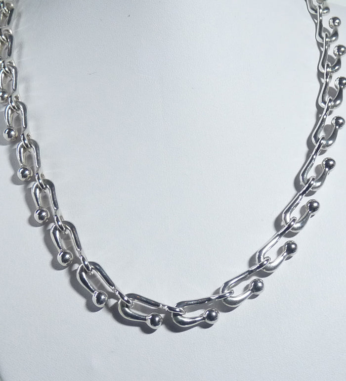 925 Sterling Silver Solid Hand Crafted Necklace - Very Different Design - The Silver Vault UK