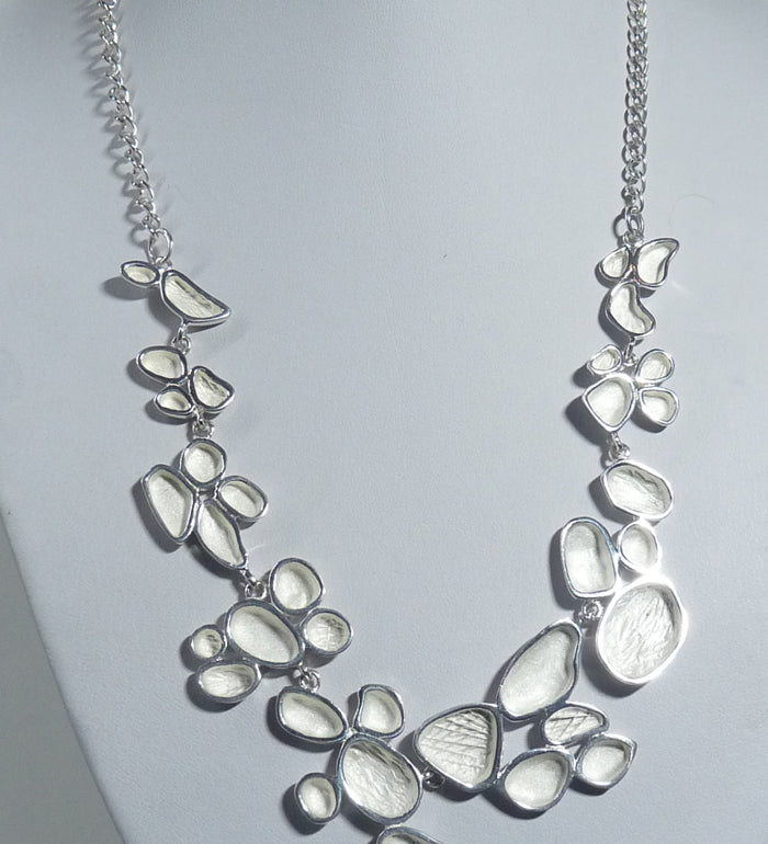 925 Sterling Silver Solid Hand Crafted Necklace. - Exclusive Design - The Silver Vault UK