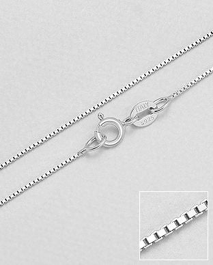 Sterling Silver Box Chains - The Silver Vault UK
