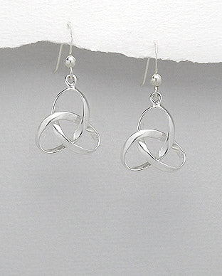 925 Sterling Silver Celtic Knot Drop Earrings - The Silver Vault UK