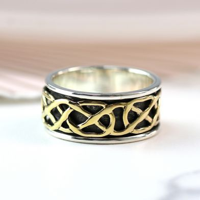 Sterling Silver Chunky Celtic Spinning Ring - The Silver Vault UK