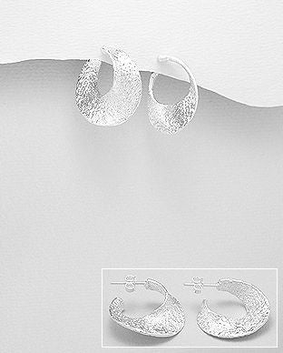 Sterling Silver Hoop Earrings - The Silver Vault UK