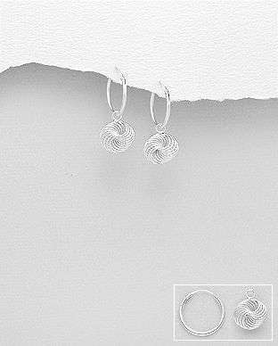 Sterling Silver Knot Dop Earrings - The Silver Vault UK