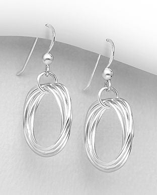Sterling Silver Russian Style Drop Earrings - The Silver Vault UK