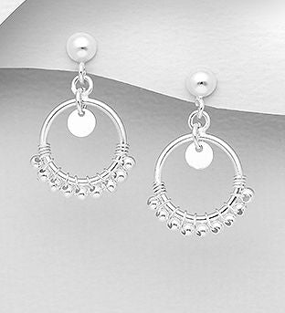 925 Sterling Silver Small Bead Drop Earrings - The Silver Vault UK