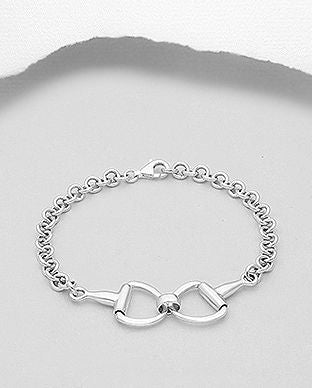 Sterling Silver Stirrup Bracelet - The Silver Vault UK