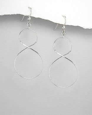 925 Sterling Silver Twisted Drop Earrings - The Silver Vault UK