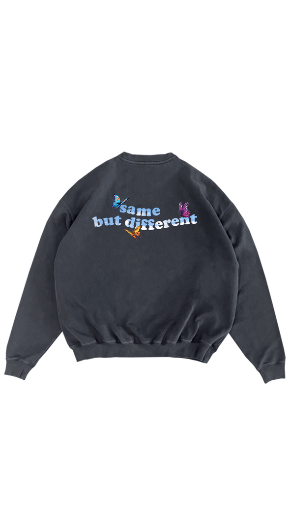 same but different crewneck vintage