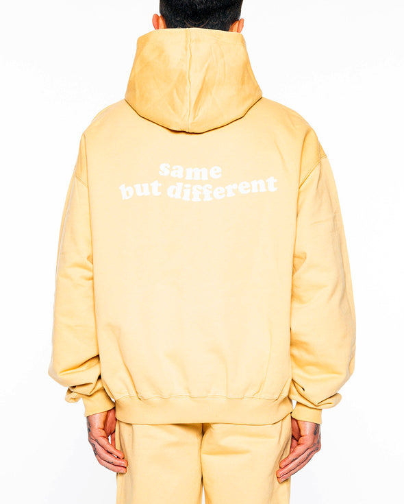 same but different hoody cream