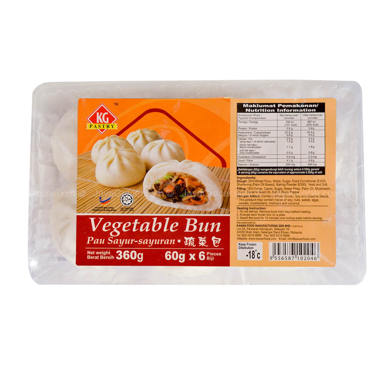 KG Pastry Vegetable Bun 360g