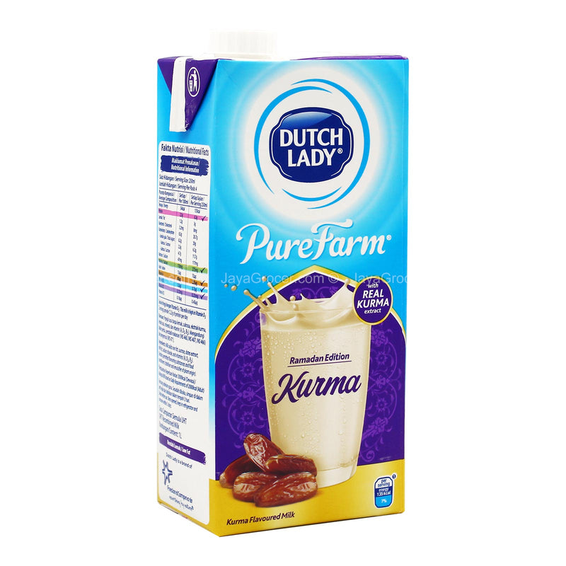 Dutch Lady Pure Farm Ramadan Edition Kurma Flavoured Milk 1L