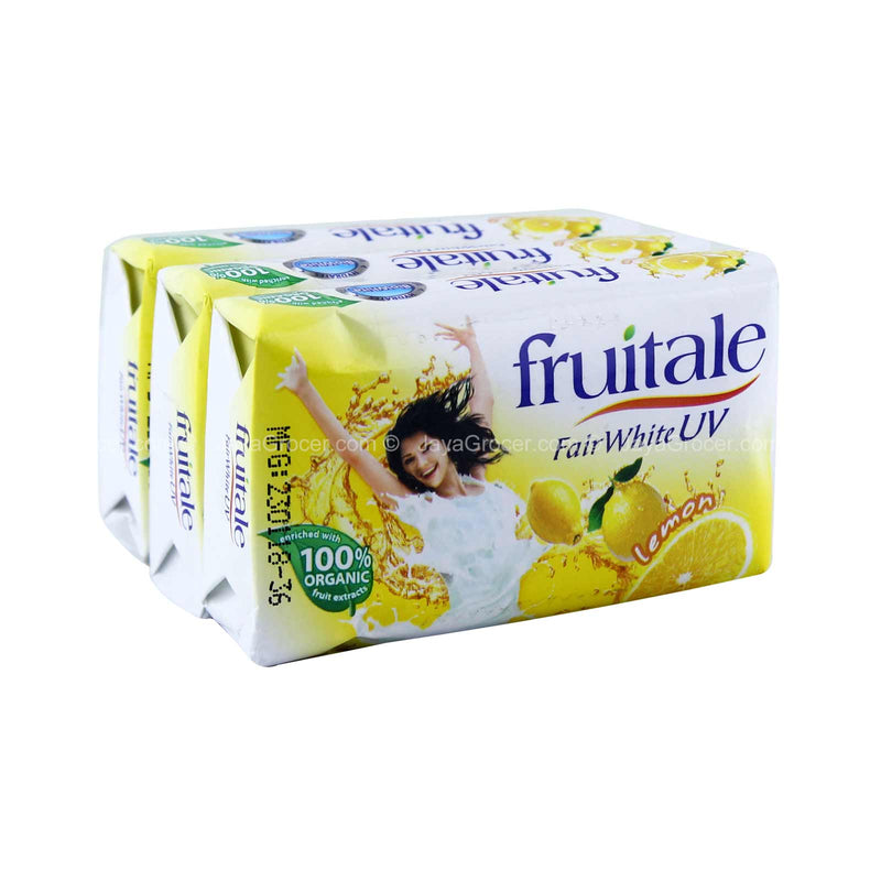 Fruitale Fair White UV Lemon Bar Soap 80g x 3