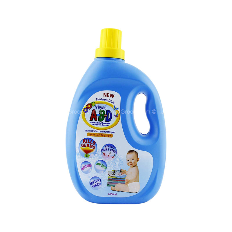 Pureen A-B-D Anti-Bacterial Concentrated Liquid Detergent with Softener 2L