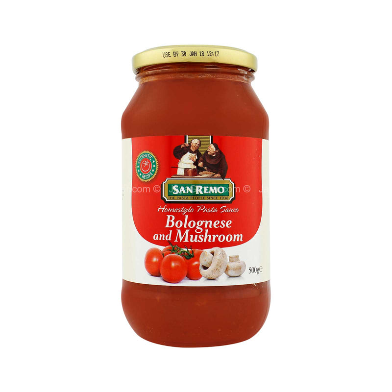 San Remo Bolognese and Mushroom Homestyle Pasta Sauce 500g